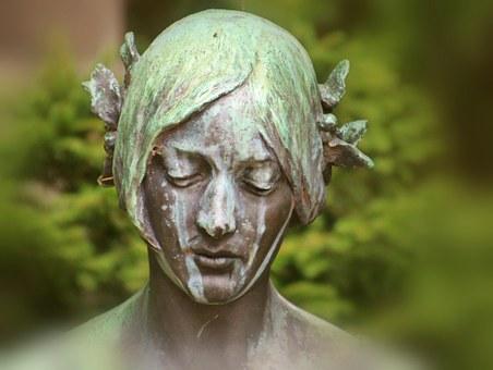 Mulher, Cabeça, Retrato, Escultura